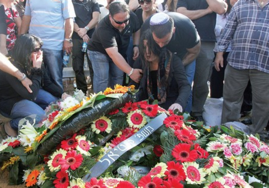 Funeral for prison guard Ronen Peretz