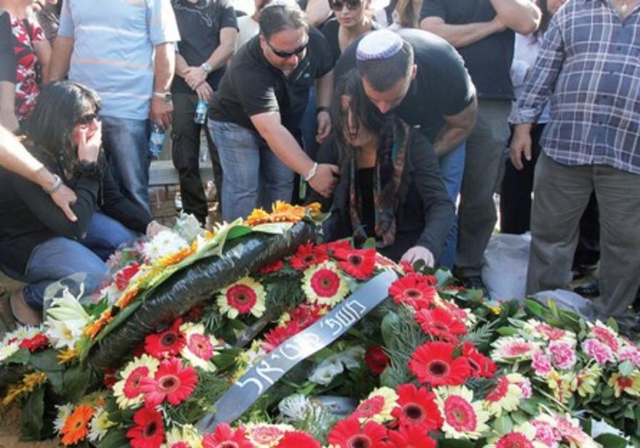Funeral for prison guard Ronen Peretz