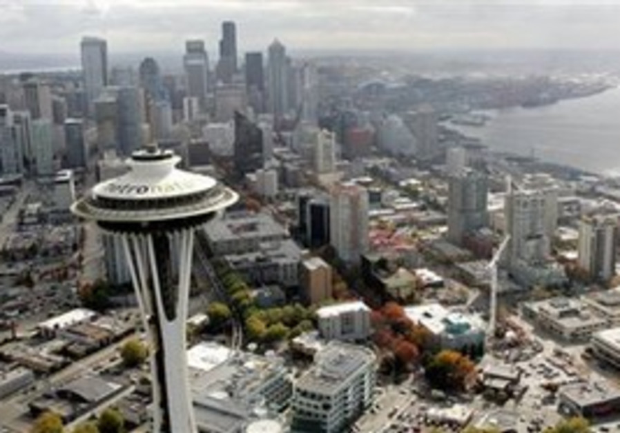 The Seattle skyline with the Space Needle