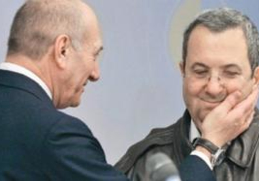 Ehud Barak and Ehud Olmert