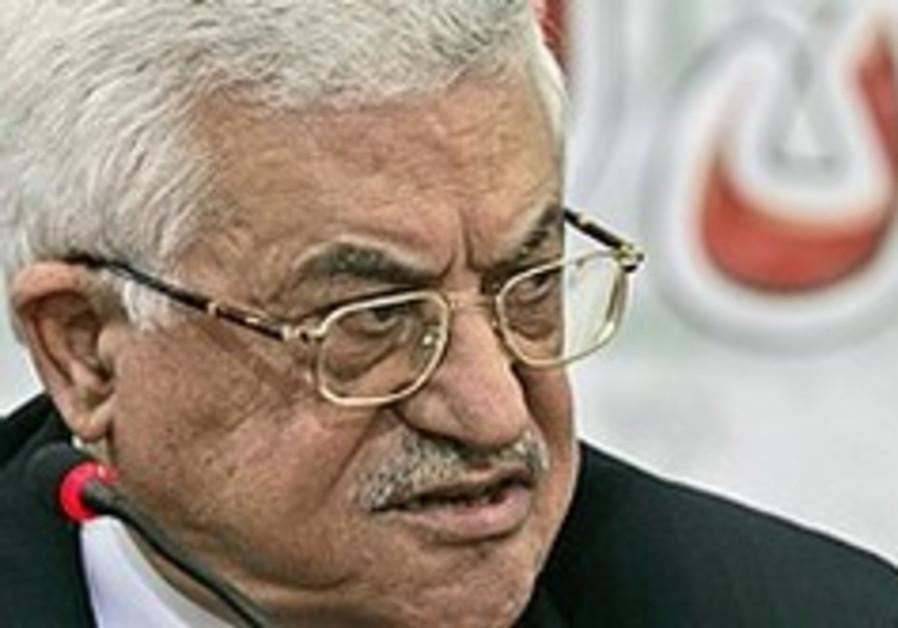 Palestinian Authority President Mahmoud Abbas.