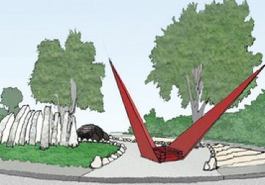 THE PLAN for a Jerusalem traffic circle