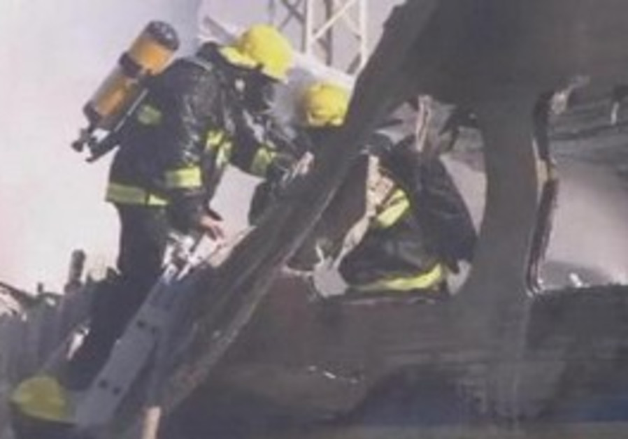 Israeli passenger train fire
