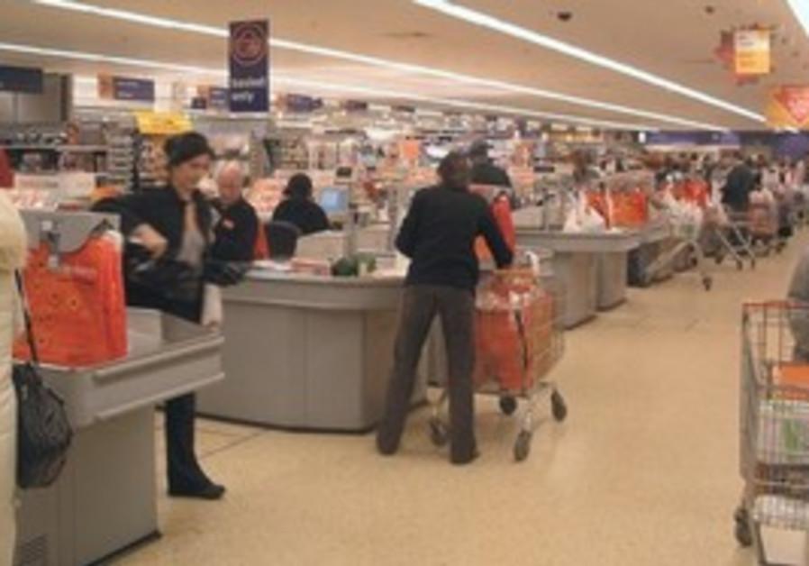 Shopping at a supermarket [illustrative]