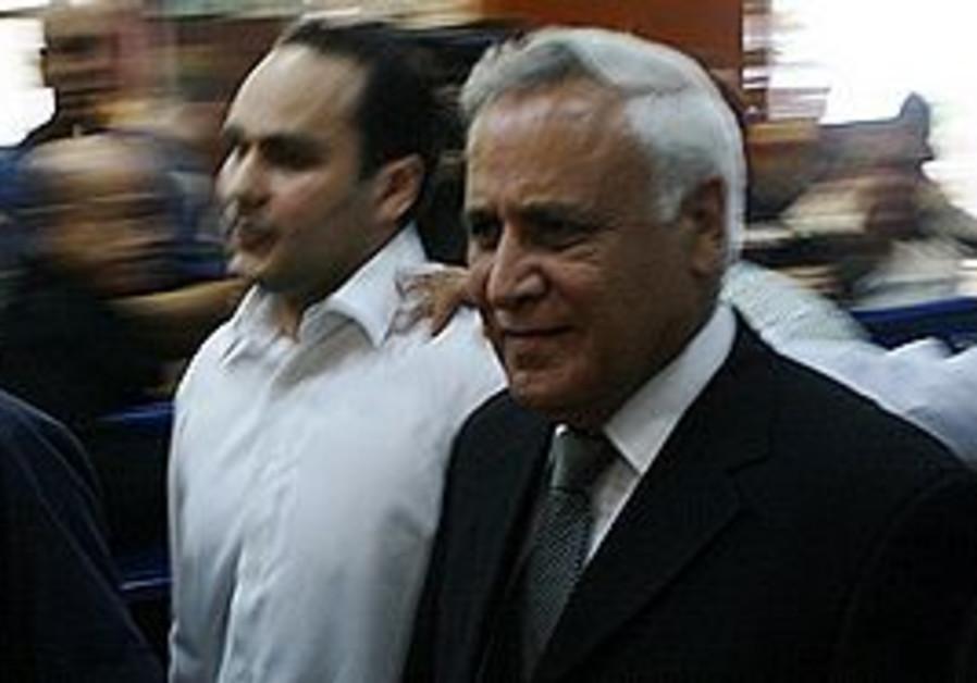 Former president Moshe Katsav in courthouse