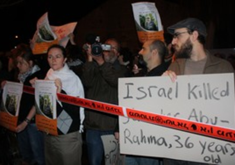 Protesters gather in Tel Aviv against Bil'in death