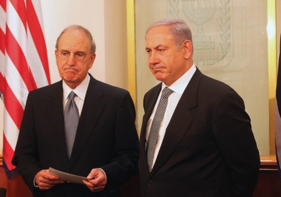 George Mitchell and Benjamin Netanyahu