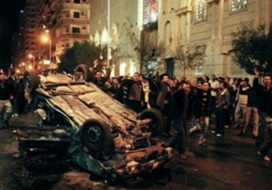 Scene of the New Year's Coptic Church bombing