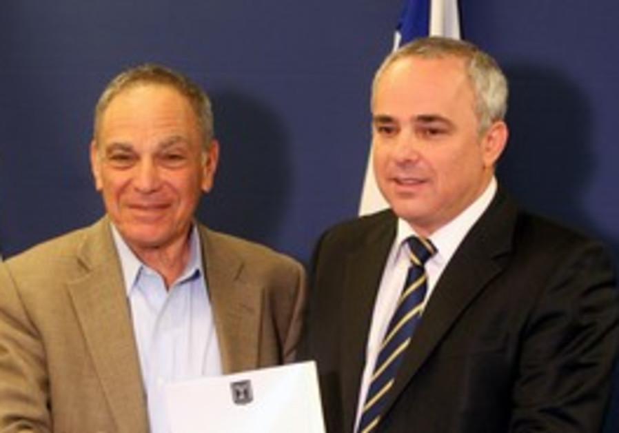 Yuval Steinitz and Sheshinski at Finance Ministry