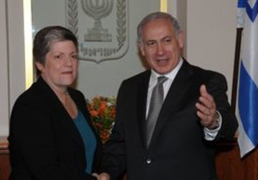 PM Netanyahu with Janet Napolitano