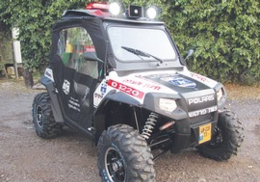 new Firefighting ATV donated by ZAKA