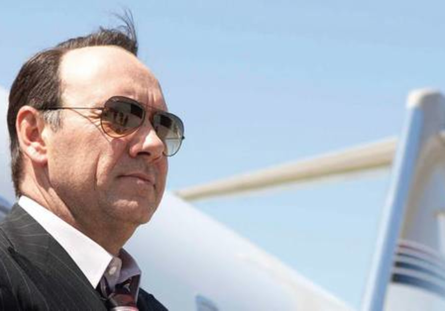Kevin Spacey is out and about in Tel Aviv