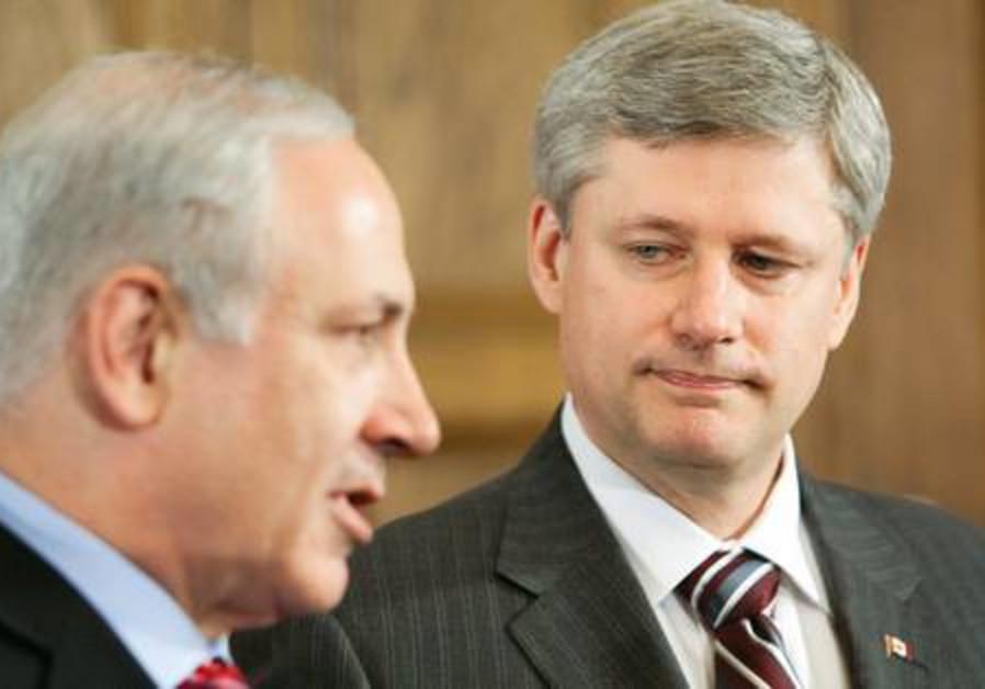Netanyahu with Canadian PM Harper