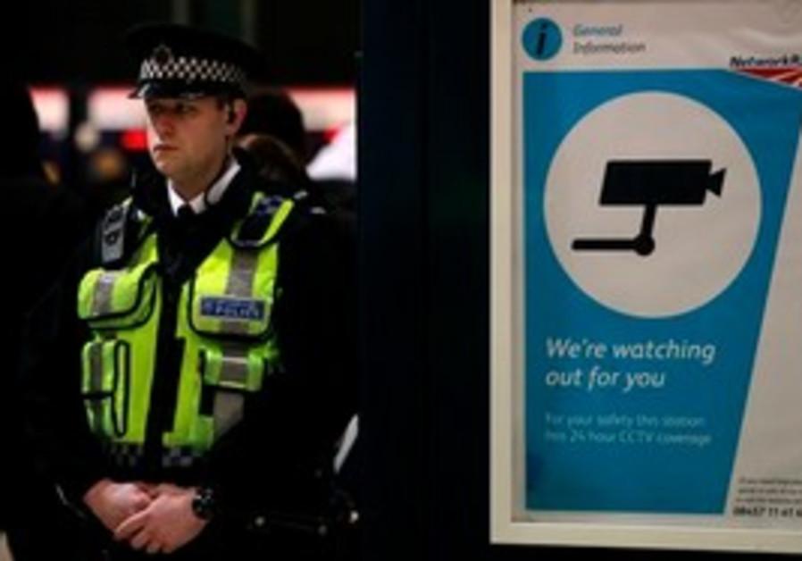 British police at King's Cross train station