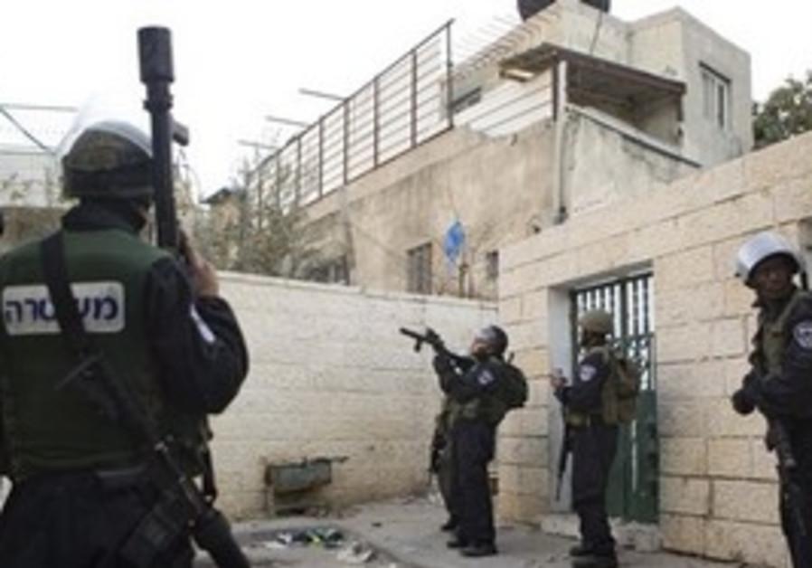 Police in east Jerusalem neighborhood of Silwan