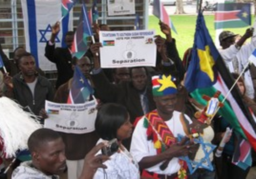 Sudanese refugee rally for independance in TA