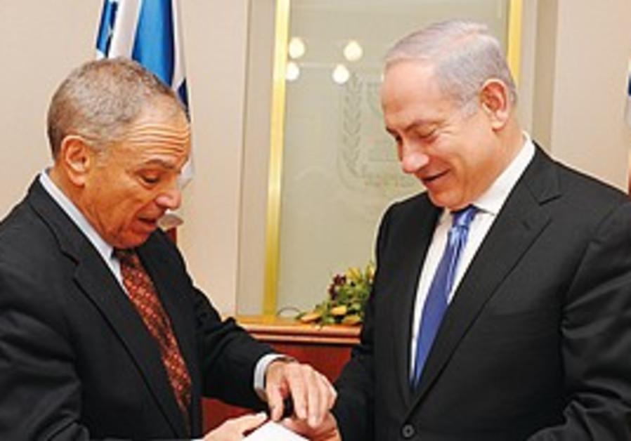 PM Binyamin Netanyahu and Prof. Eitan Sheshinski.