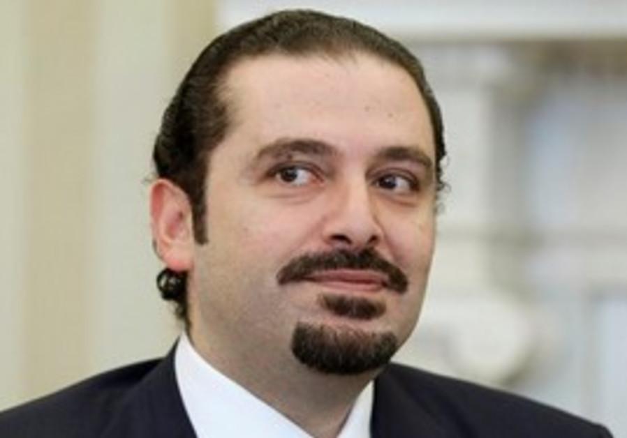 Lebanese Saad Hariri in Washington