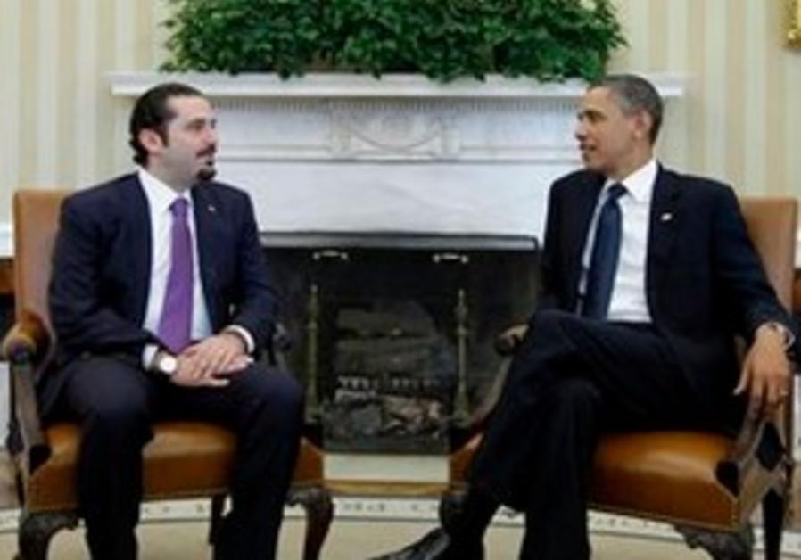 US President Obama with Lebanese PM Hariri