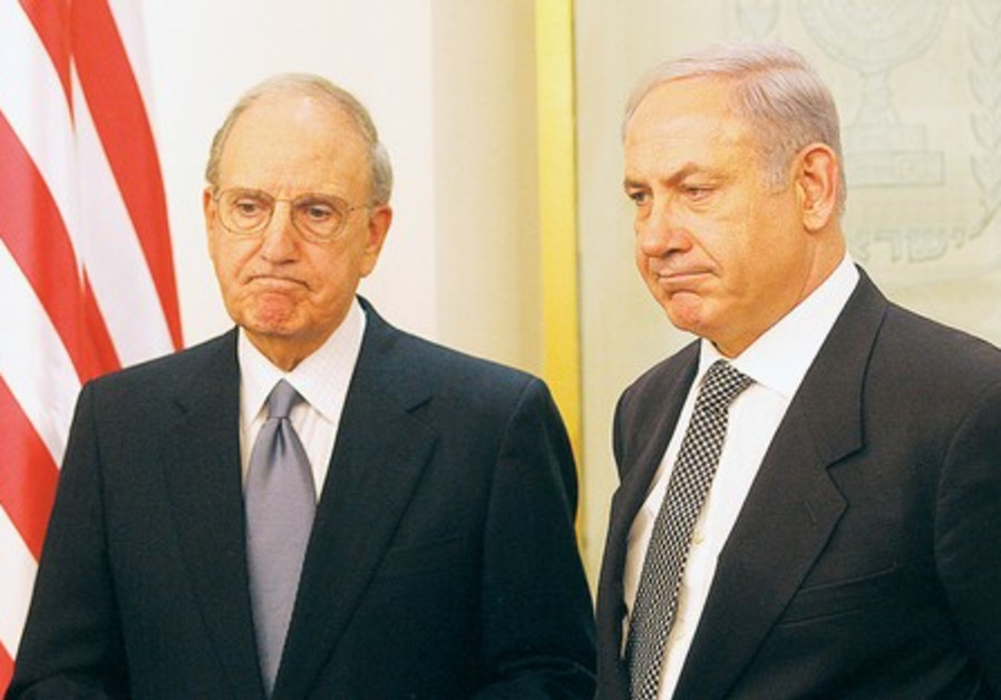 PM Netanyahu with US envoy George Mitchell
