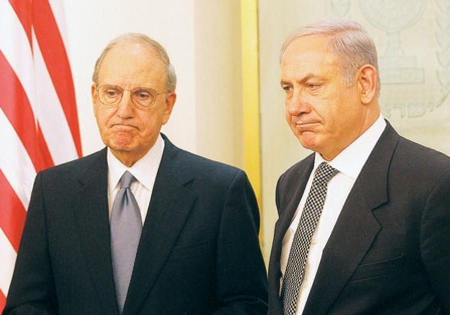 PM Netanyahu with US envoy George Mitchell