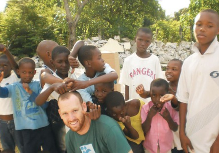 A Tevel b'Tzedek volunteer in Port-au-Prince