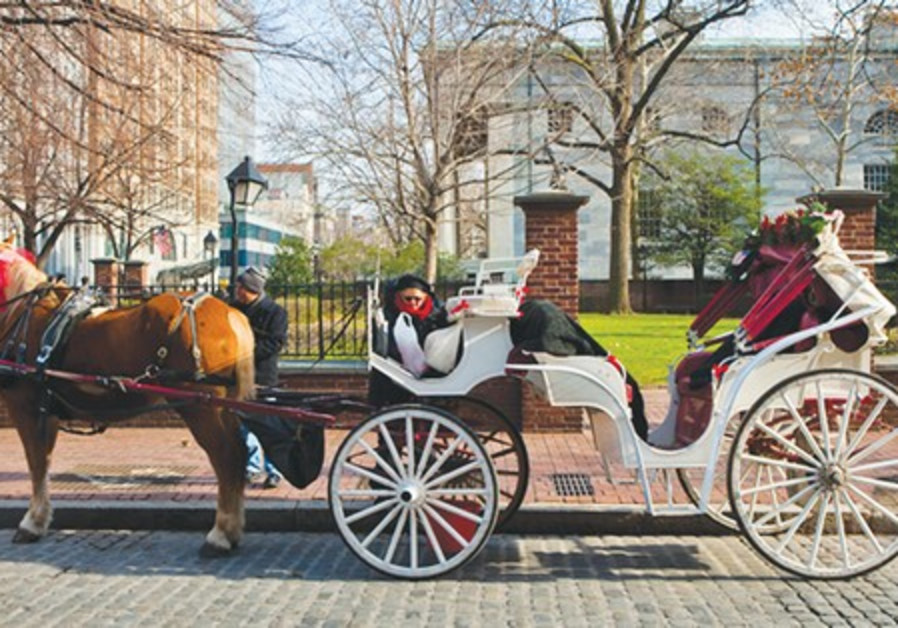 Horse drawn carriage in Philadelphia