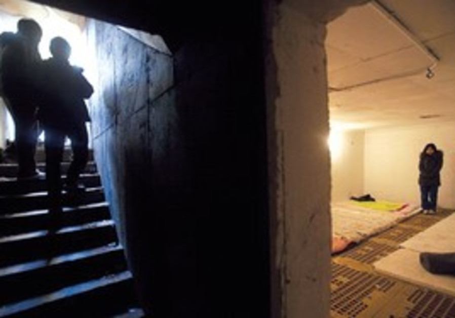 INSIDE A bomb shelter on Yeonpyeong Island. The ID