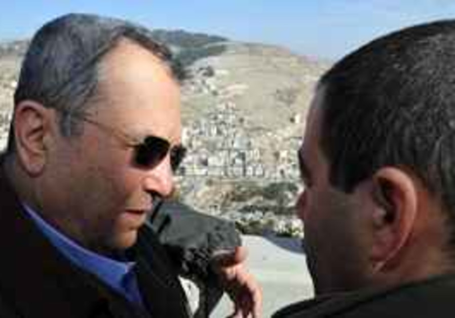 Ehud Barak and Shomron Brigade Commander