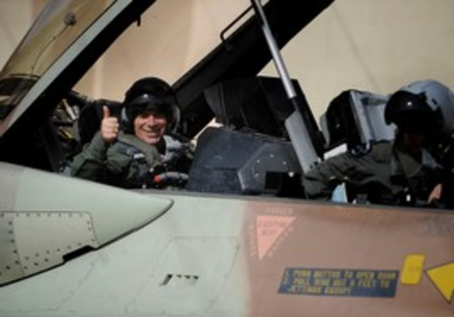 Gabi Ashkenazi in a fighter jet