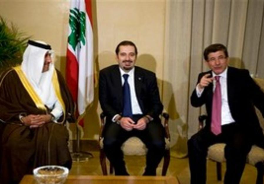 The three leaders met in Beirut, Tuesday.