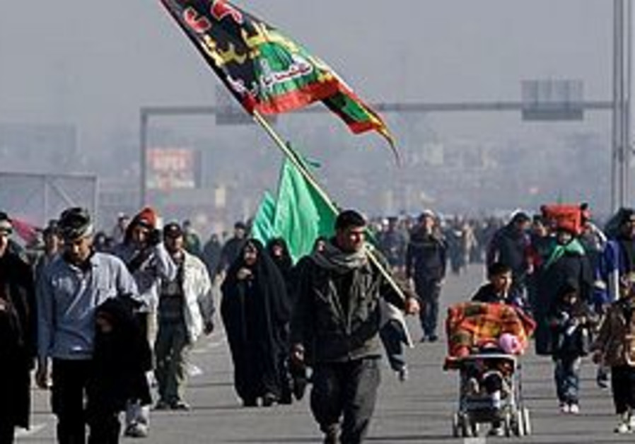 Shiite pilgrims march to Karbala for Arbaeen