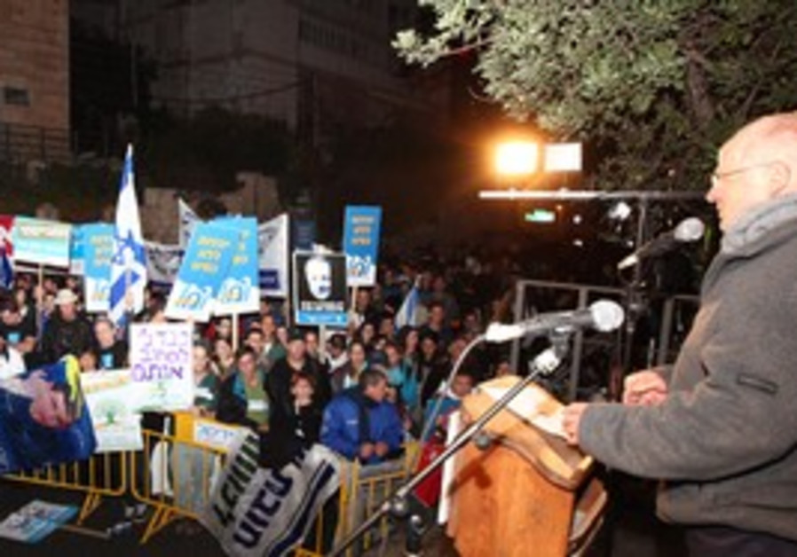 Noam Schalit at equal IDF service rally