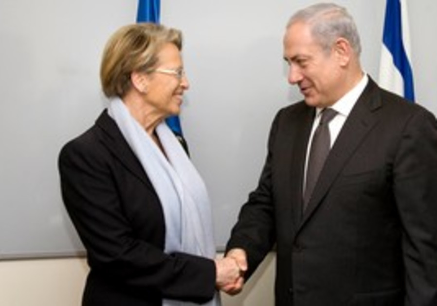 PM Netanyahu and French FM Alliot-Marie