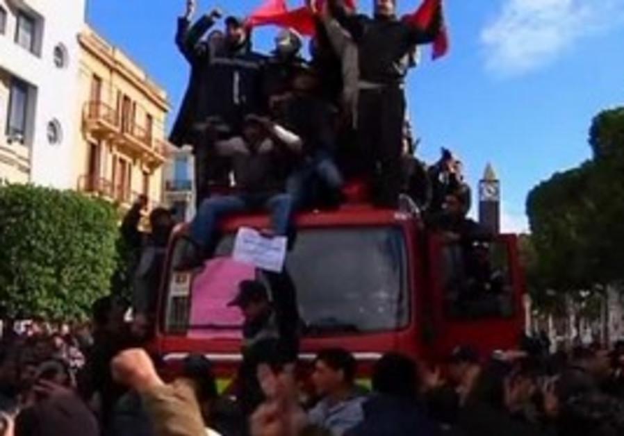 Tunisian police riot