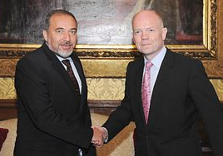 FM Avigdor Lieberman and Foreign Sec William Hague