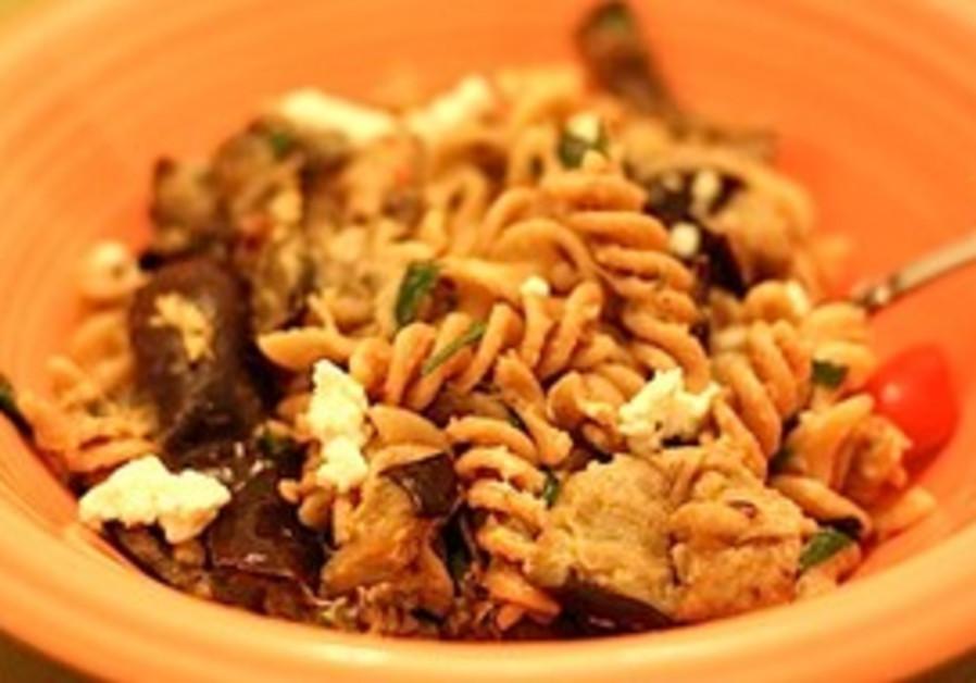 Fusilli with eggplant
