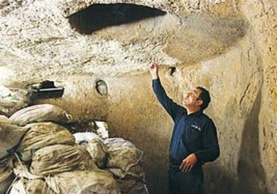 ARCHEOLOGIST ELI SHUKRON gives a tour of the ancie