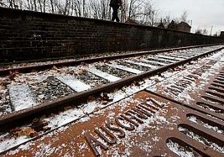 Auschwitz train tracks