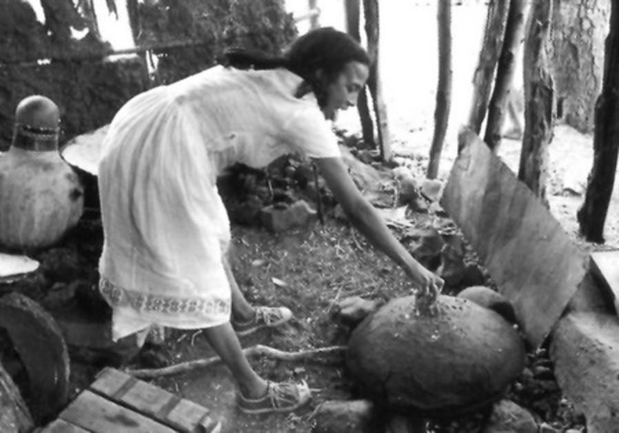 The wife of Kes Abeba Baran, Ethiopia, 1984.