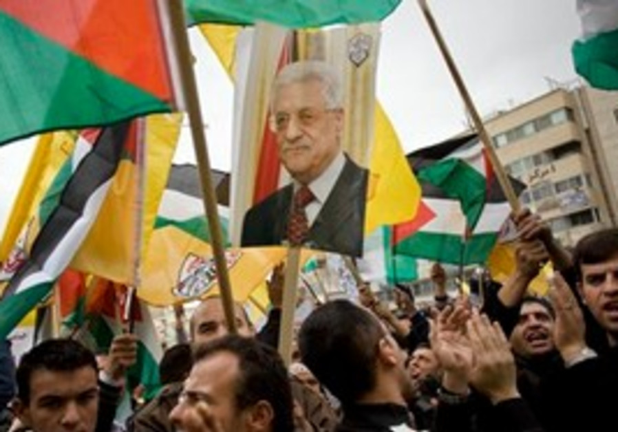 Rally in support of Fatah in the West Bank