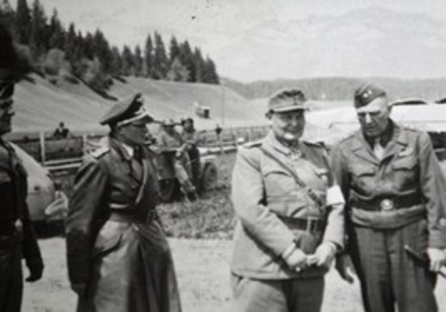 Hermann Goering, second from right on airstrip