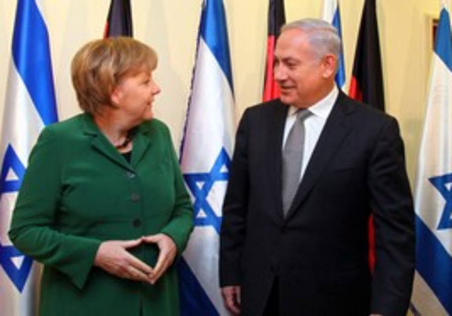 German Chancellor Angela Merkel with PM Netanyahu