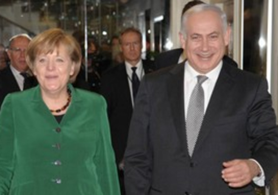 German Chancellor Angela Merkel with PM Netanyahu