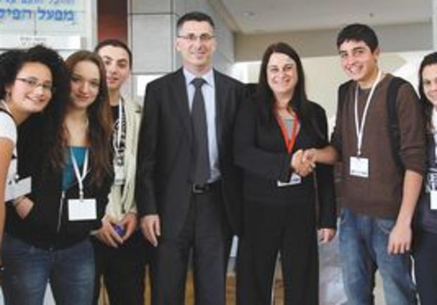 Education Minister Gideon Sa'ar and Rona Ramon