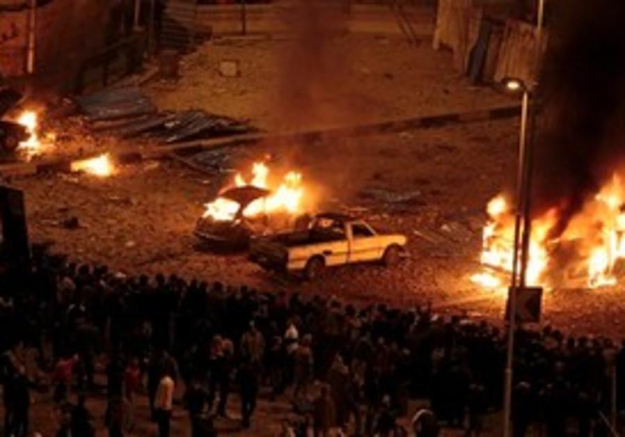 Pro-government demonstrators at Tahrir square