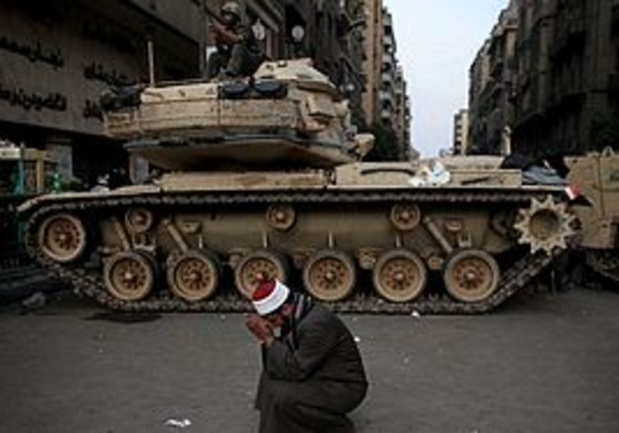 An Egyptain Army tank in Cairo