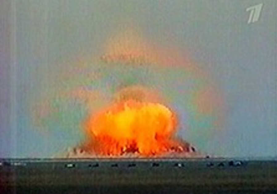Report: Russia tests 'most powerful non-nuclear bomb'