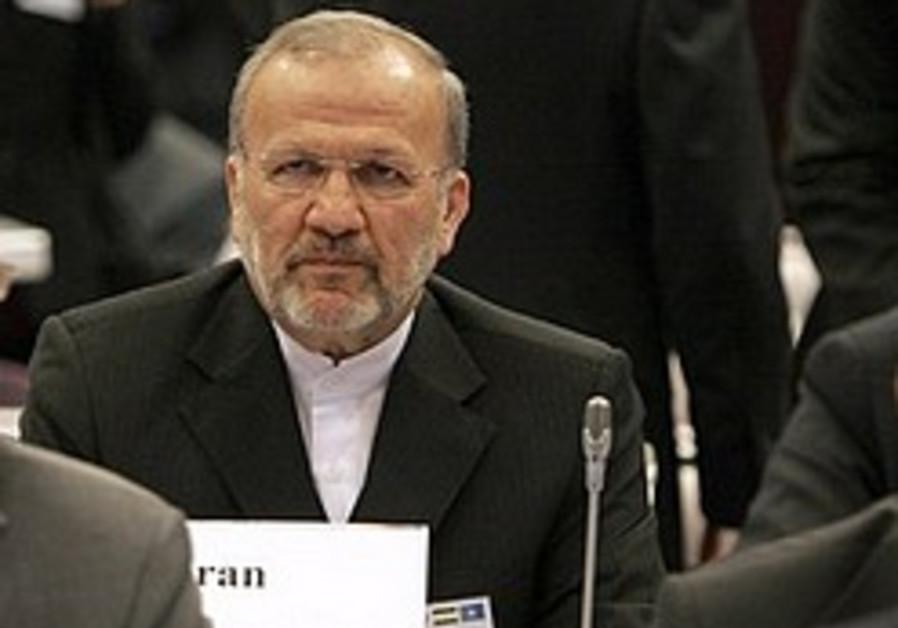 Iranian Foreign Minister Manouchehr Mottaki.