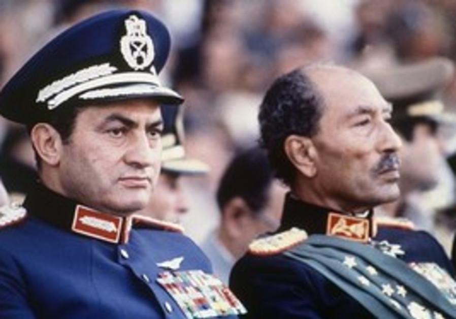 Oct. 6, 1981: Anwar Sadar with Hosni Mubarak